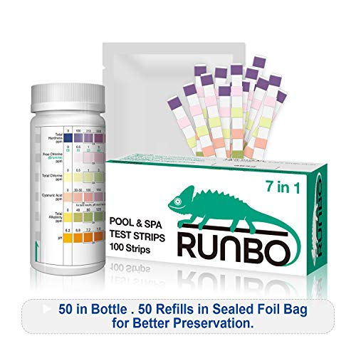 RUNBO 7 in 1 Pool SPA Quality Testing Strips