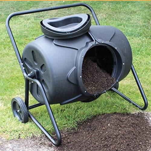 Großer Gartenkompostbehälter, 115-Gallonen-Abfallbehälter, Kompostierbecher, um 360 ° drehbarer Komposter im Freien