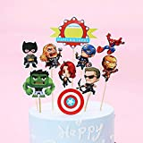 Cupcake Toppers Decoración de Pastel Superhero Cupcake Toppers para Fiesta de Cumpleaños 10 piezas