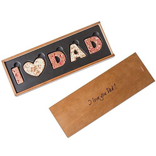 I love Dad - Vollmilchschokolade - Schokoladenbuchstaben | I ?? Dad | Vatertag | Geburtstag | Vater Geschenk | Vatertagsgeschenk | Geschenkidee | Geschenke für Papa | Schoko | Schokolade | Vati