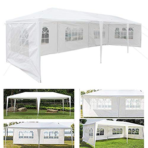 10x30 Feet Heavy Duty Party Canopy,Instant Tent 5 Removable Sidewalls Folding Up Canopy Tent Patio Event Gazebo Beach Tent UV Coated & Waterproof Manual Setup
