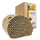 Cuore di Animali Selvatici | 200 Tubi di Nidificazione con Ø 8 mm per api Selvatiche - Tubi di Cartone Ecologici al 100% per Hotel Insetto, Rifugi per Insetti, Casetta per Insetti