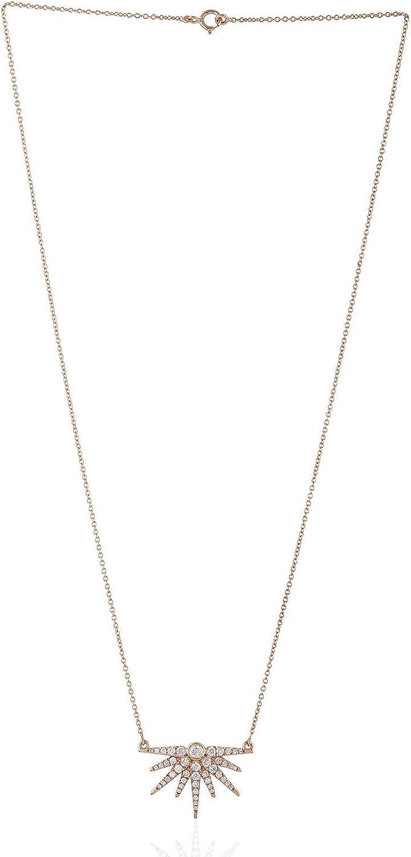 Natural Diamond Locket Necklace 14k Rose Gold Jewelry