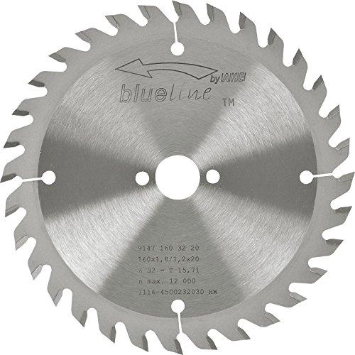 AKE 91471603220 Kreissägeblatt HW, Durchmesser 160 x 1,2 x 20 mm Z32 Wechselzahn, positiv
