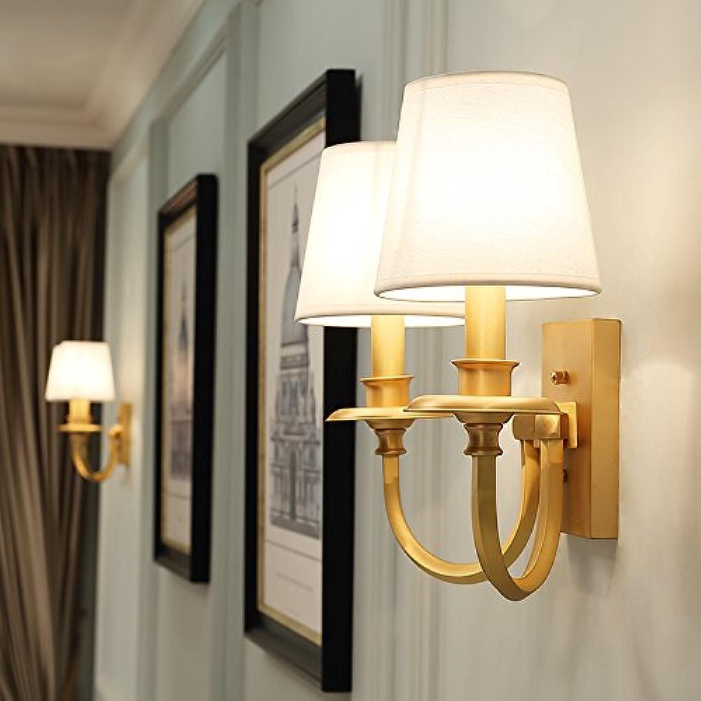StiefelU LED Wandleuchte nach oben und unten Wandleuchten Kupfer Wandleuchte Wohnzimmer TV-Wand Bett im Schlafzimmer und Wandleuchten Spiegel vorderen Leuchten Wand leuchten, Dual Head + Kupfer