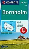 KOMPASS Wanderkarte Bornholm 1:50 000: 4in1 Wanderkarte 1:50000 mit Aktiv Guide und Stadtplan inklusive Karte zur offline Verwendung in der KOMPASS-App. Fahrradfahren.