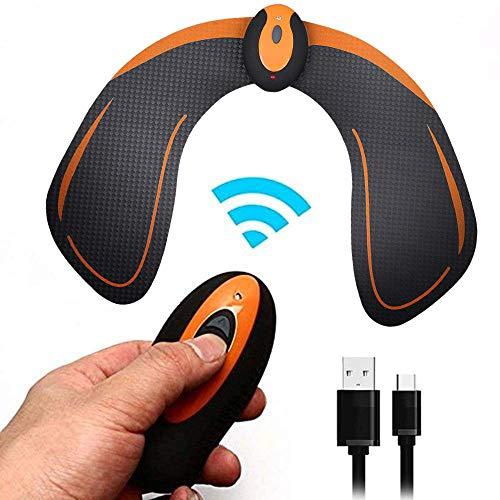 Hüften EMS Muskelstimulator, elektronische Rückseite Muscle Toner, intelligenter tragbarer Gesäßtonertrainer für Männer Frauen, Abnehmen der Maschine