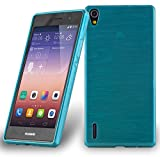 Cadorabo Hülle für Huawei P7 - Hülle in TÜRKIS –