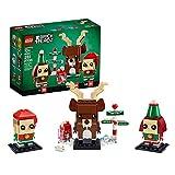 LEGO Brickheadz Renna, Elfo ed Elfa, Giocattolo e Idea Regalo, Decorazioni Natalizie, 40353