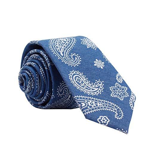 Mode binden Pfeil-Art beiläufige Baumwolldruck-Krawatte benutzerdefinierte Männer Cashew Blumen Floral Tie (Color : Blue, Size : Gift Box)