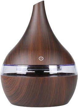 SUPRIQLO 7 Color Night Light Wood Grain Humidifier