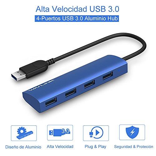 WAVLINK Tipo-A USB 3.0 4 Puertos USB 3.0 Hub Alta