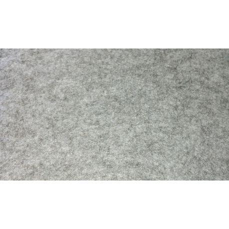 5Blatt Wollfilz 30x 25cm 1mm dick Farbe hellgrau