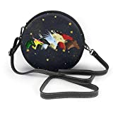 Yuanmeiju Sac à bandoulière rond Round Crossbody Bags Wings Of Fire Jade Winglet Small Fashion Microfiber Leather Shoulder Wallet With Adjustable Shoulder Strap