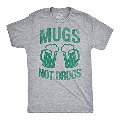 Mens Mugs Not Drugs Funny Irish Saint Patricks Day T Shirt St Patty Shamrock Tee