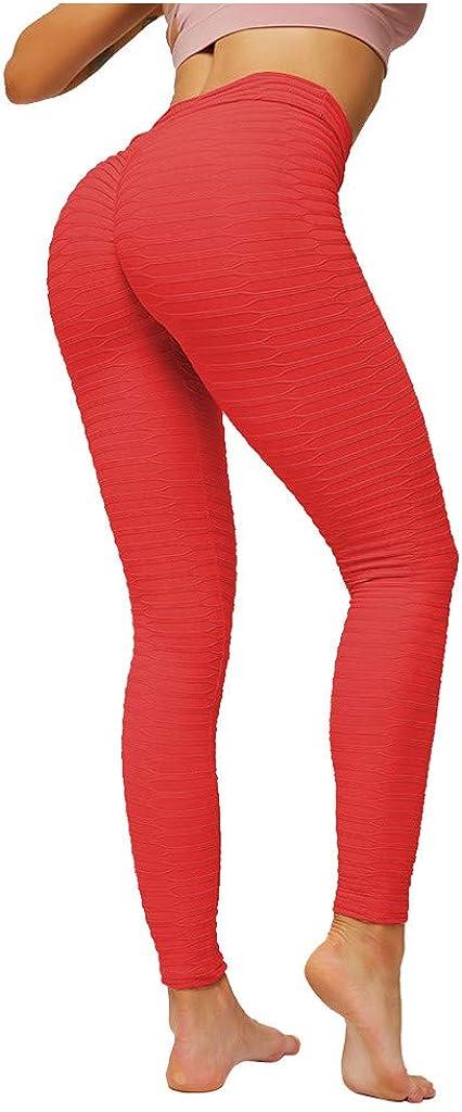 Casual Outdoor Gym Leggings JURTEE Women High Waist Leggings Solid Color Stretchy Stripe Tight Full Length Sports Pants Fashion Yoga Pants