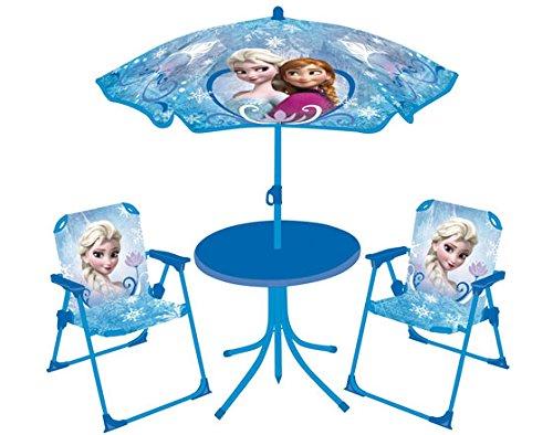 FUN HOUSE - Set da Giardino (Tavolo + 2 sedie + 1 ombrellone), Fantasia: Frozen