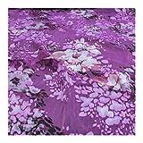 Stoff Seide Batist lila Blumenmeer transparent fließend