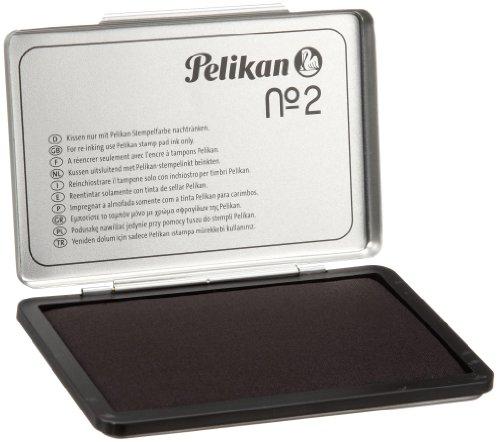 Pelikan 331777 Cuscinetto Inchiostrato, per Timbri, Colore Nero e Metallo, 70 x 110 mm, Dimensione Medium/Medio
