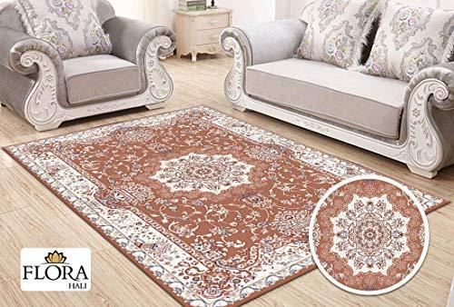 Flora Samarkand Collection Teppich Polypropylen Heatset rosa | Größe 200cm x 290cm