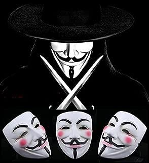 Gmasking White Resin V for Vendetta Guy Fawkes Anonymous Mask+Gmask Keychain