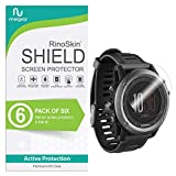 (6-Pack) RinoGear Screen Protector for Garmin Fenix 3 Case Friendly Garmin Fenix 3 Screen Protector Accessory Full Coverage Clear Film