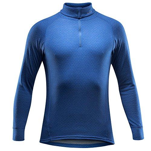 Devold de la Norvège pour Homme Active col Sweat Shirt Petit Indigo