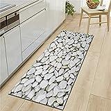 Alfombrillas de Cocina con impresión 3D de Piedra Coloreada, alfombras absorbentes Antideslizantes de baño, alfombras de Puerta Modernas para decoración del hogar A4 40x120cm