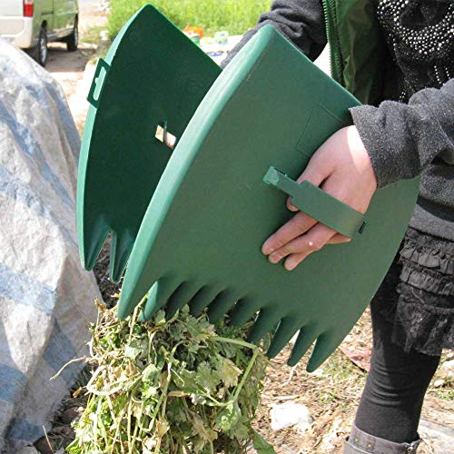 WENKEN Laubgreifer, für den Außenbereich, Garten, große Kapazität, Laubschaufeln, Handrechen, Klaue, ergonomisch, zum Aufheben von Blättern, 2 Stück