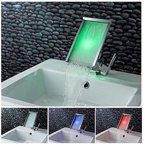 grifos de cocina fregadero grifo Grifo de agua fría y caliente de cascada creativa europea adecuado para grifo de lavabo debajo del mostrador panel de ampliación grifo de lavabo frío y caliente