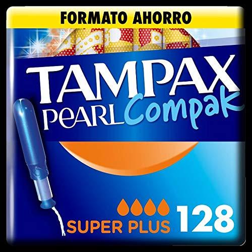 Tampax Compak Pearl Super Plus mit Applikator Schutz und Diskretion 128 Stück 1220 g