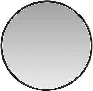 YANHAI Miroir Décoratif Surdimensionné De Miroir De Montage De Mur Encadré par Métal Rond pour Le Salon Ou La Salle De Bains 50cm