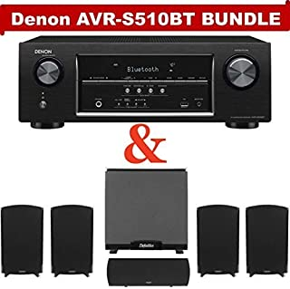 Denon AVR-S510BT 5.2-channel home theater receiver with Bluetooth NOW WITH Definitive Technology ProCinema 1000 System!