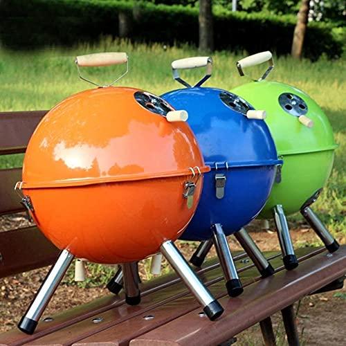 Barbacoa al aire libre para fiestas familiares Portab, barbacoa redonda de carbón para fiestas, pícnics, camping (color: verde) JXX (color: verde) - verde