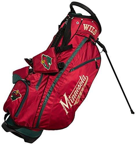 Team Golf NHL Carolina Hurricanes Fairway Golf Stand Bag, Lightweight, 14-way Top, Spring Action Stand, Insulated Cooler Pocket, Padded Strap, Umbrella Holder & Removable Rain Hood
