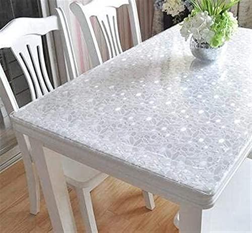 Mantel Paño de vector impermeable tapetes de mesa de vidrio blando de plástico mantel de Xicha varios almohadilla helado placa de cristal 90 * 150cm color de la imagen Mantel de vidrio blando