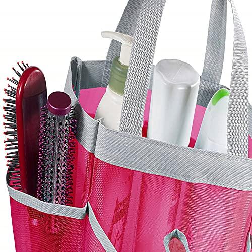 Mesh Douche Tas Sneldrogende Tote Bag Hangende Toilettas Bad Speelgoed Organizer met 7 Zakken