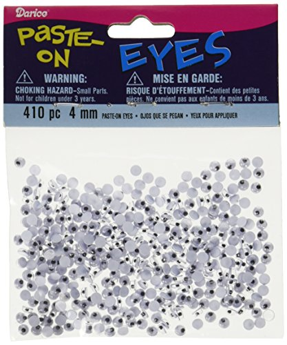 Darice 410-Piece Paste on Eyes, 4ml