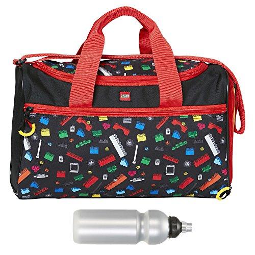 LEGO Sporttasche Kinder Sports Bag Kindertasche Tasche 20026 + Trinkflasche (LEGO Iconic 1611)