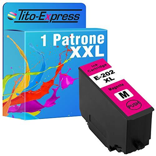 Tito-Express ProSerie 1x Patrone kompatibel mit Epson 202XL 202 XL mit 10ml Magenta XXL-Inhalt Expression Premium XP-6000 XP-6005 XP-6100 XP-6105