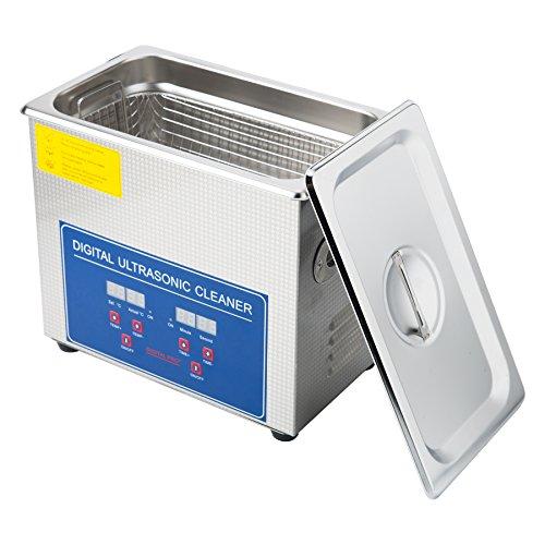 Sfeomi Limpiador Ultrasónico Digital 120W 3L Limpiador Ultrasónico con Temporizador Digital Máquina de Ultrasonido para Limpieza de Acero Inoxidable para Limpiar Anteojos Anillos (3L)