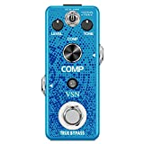 VSN Guitar Compressor Pedal for Analog Compression Effect Pedal Ultimate Comp Guitar Effects for Electric Guitar True Bypass