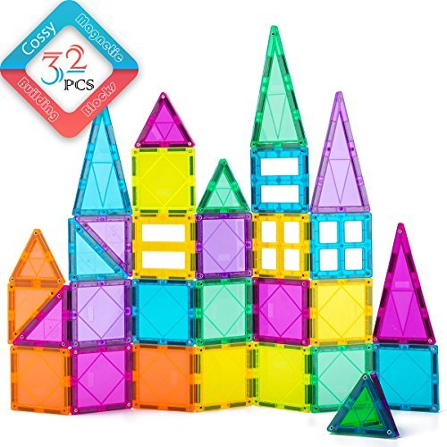 32 Piece Magnetic 3D Building Blocks Set