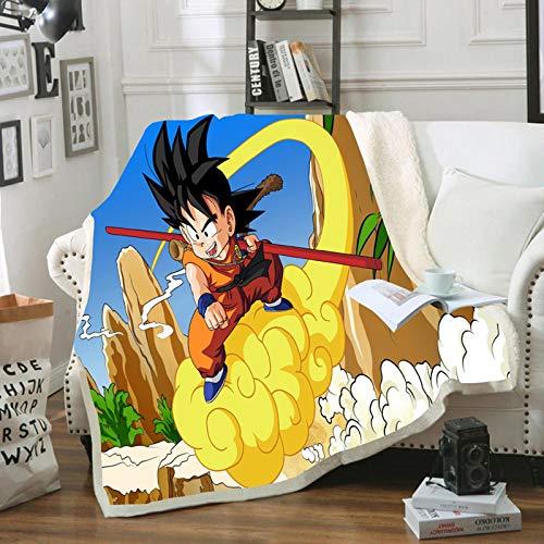 HGKY Manta para niños Anime Dragon Ball, manta de franela suave y cálida de alta calidad, para sofá cama, adecuada para manta de dormir (130 x 150 cm)