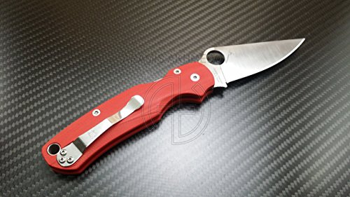 Custome scales for Spyderco Paramilitary 2. Model Grand Classic. Red G10 (Knife not included)