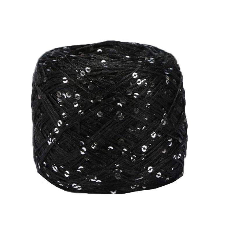 Clisil Black Sliver Sequin Yarn,Sparkle Yarn,Sequin Theread,Accessories,Fantasy Yarn,Payet Yarn,Lace Yarn,Lame Yarn,Art Yarn 100g