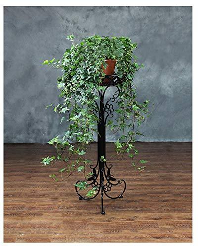 Dreidimensionales Design Pflanzenständer Metall Garten Patio dekorativ Blumenständer, Blumentreppe Vintage Pflanzentreppe für drinnen/draußen 1Schwarz 95cm