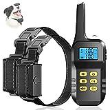 Collar de Adiestramiento para Perros con Control Remoto de 1000m, Collar Antiladridos Recargable con Vibración y Sonido