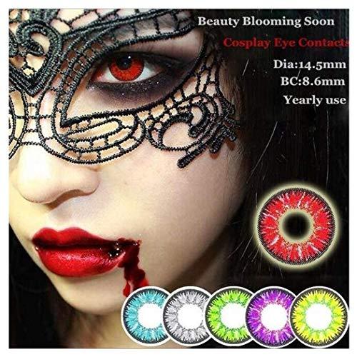 Ashopfun Augenlinsen 2 Starke Farbpflege Kontakt Kunststoffpinzette Setzen Sie farbige Kontakte ein (Lila)