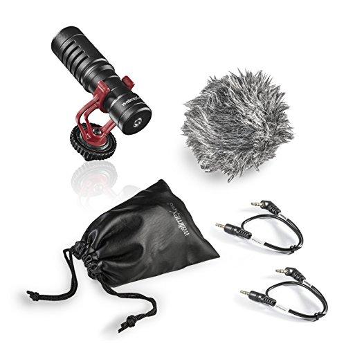 walimex pro VLOG - Micrófono direccional Mic Shotgun para DSLR y cámaras sin Espejo, Smartphones y iPhones, Ideal para Vlogger, Blogger y Youtuber
